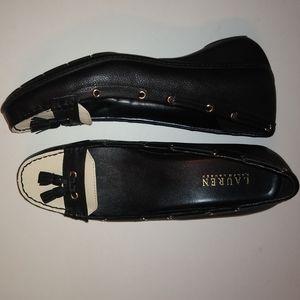 Lauren Ralph Lauren Gael Blue/Cream Shoes 10B